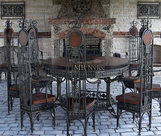A set of wrought furniture for the palace castle
