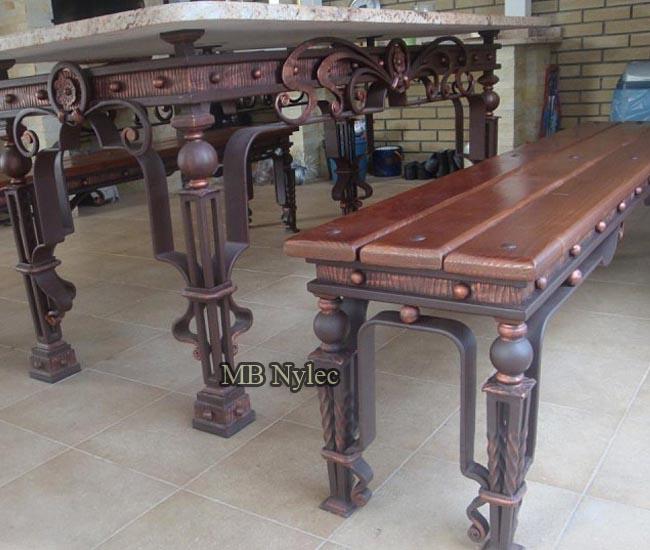 A set of wrought garden furniture