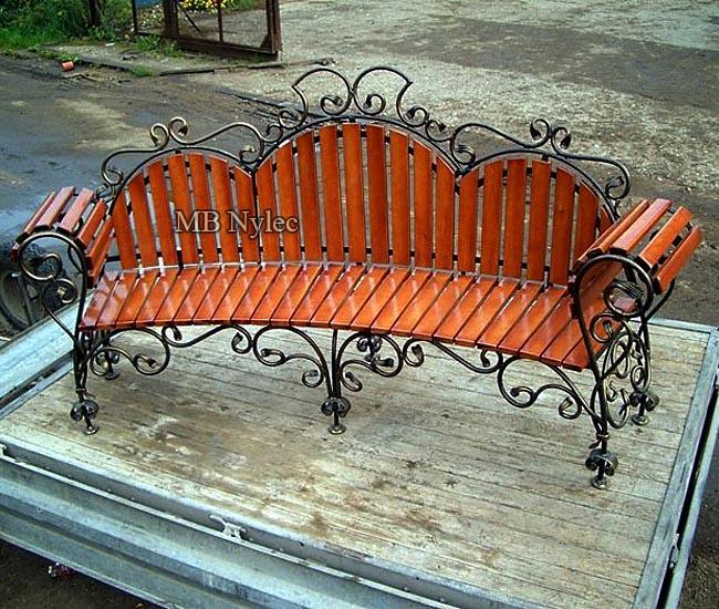 Arch garden bench