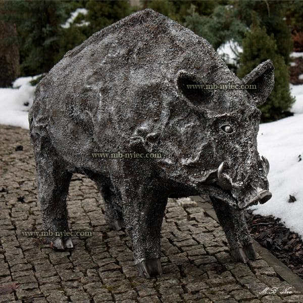 Boar - a figure of metal