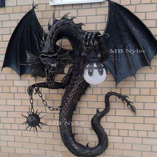 Dragon - sconce - metal sculpture