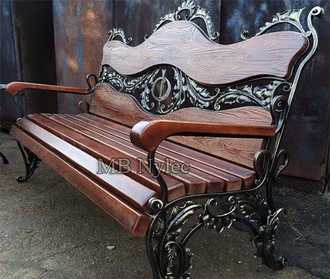 Forged bench for the garden