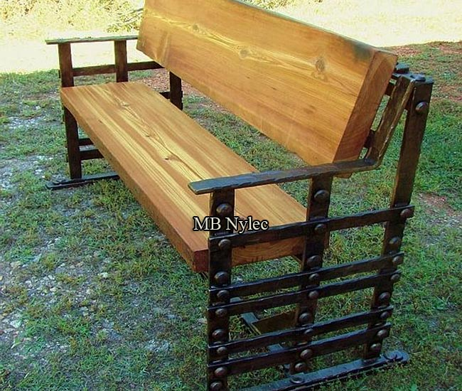 Forged bench - loft industrial
