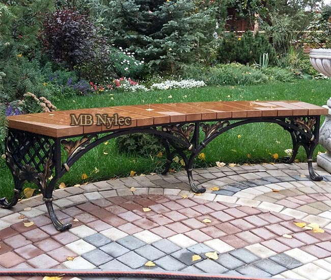 Forged bench without backrest