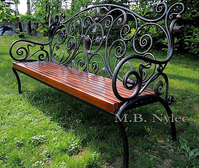 Forged garden bench