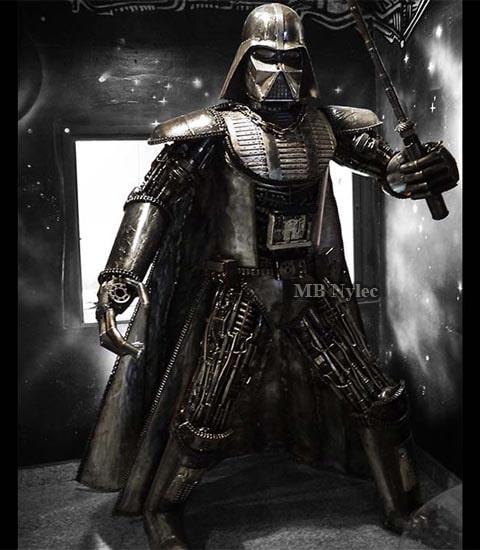 Lord Vader - steel sculpture 220cm