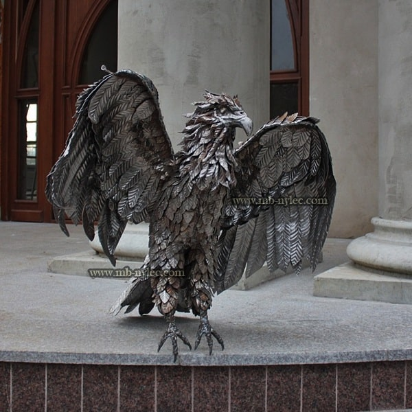 Metal eagle - steel sculpture