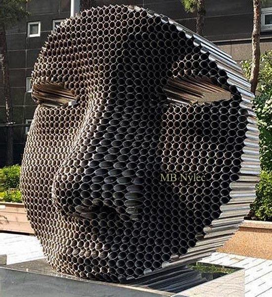 Modern statue made of steel