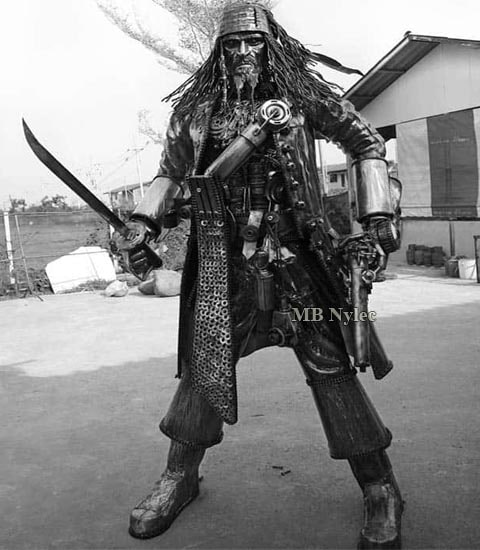 Pirate - sculpture, steel figure, 220 cm