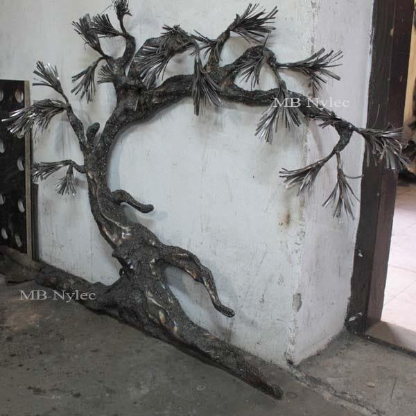 Steel bonsai tree - low relief