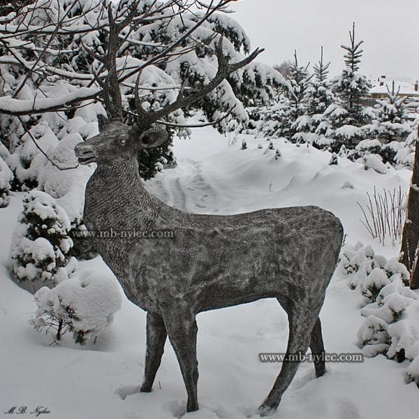 Steel deer - metal sculpture