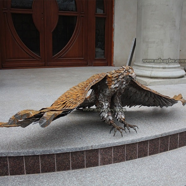 Steel eagle - 180cm sculpture