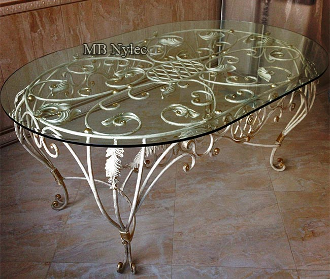 A large forged table