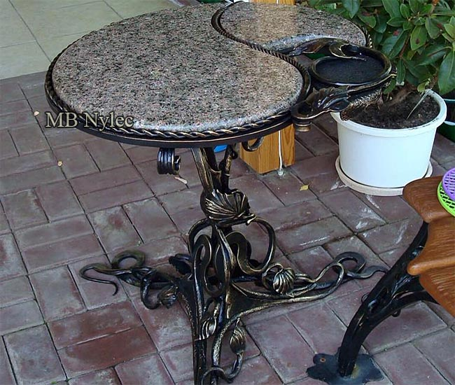 Designer garden table