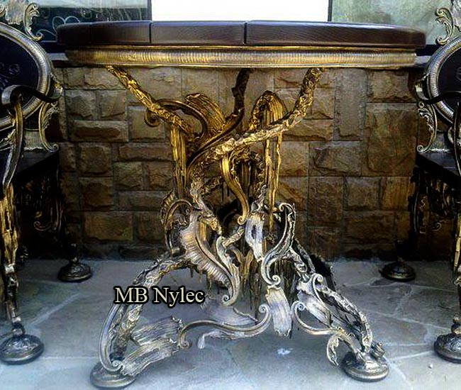 Exclusive forged rococo table