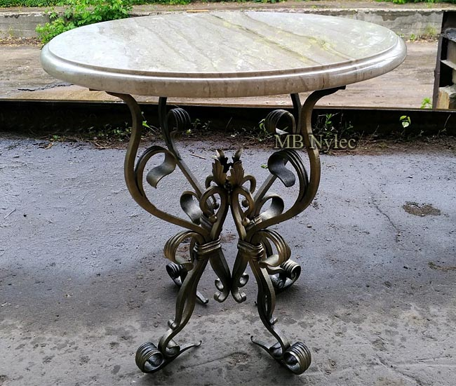 Forged garden table
