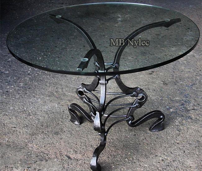 Forged loft vintage table