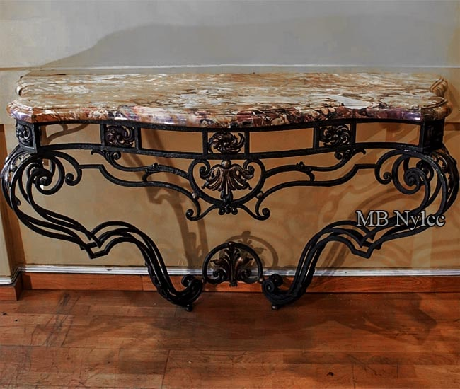 An elegant forged console