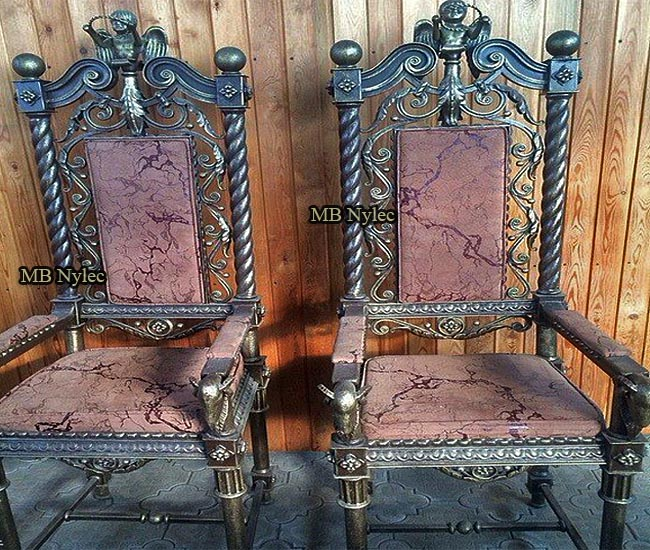 Elegant forged chairs