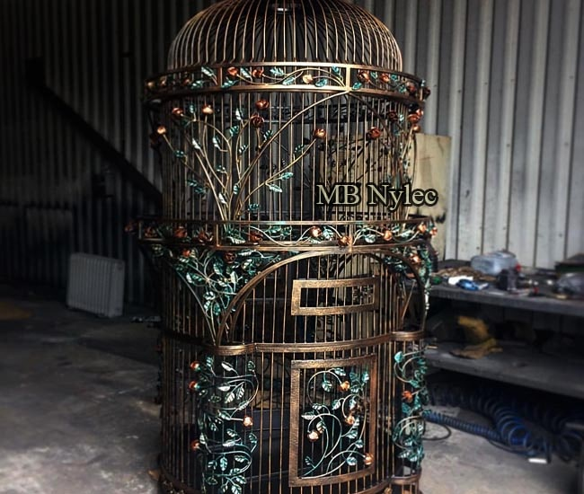 Exclusive forged parrot cage