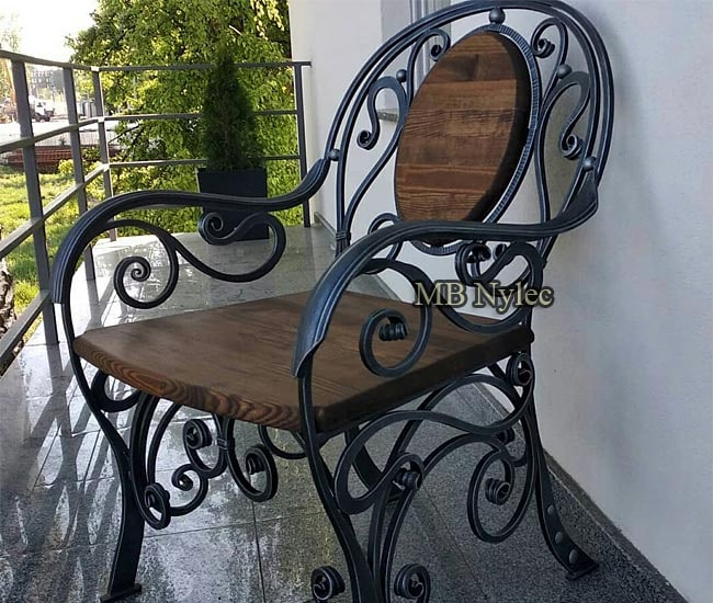 Forged armchair