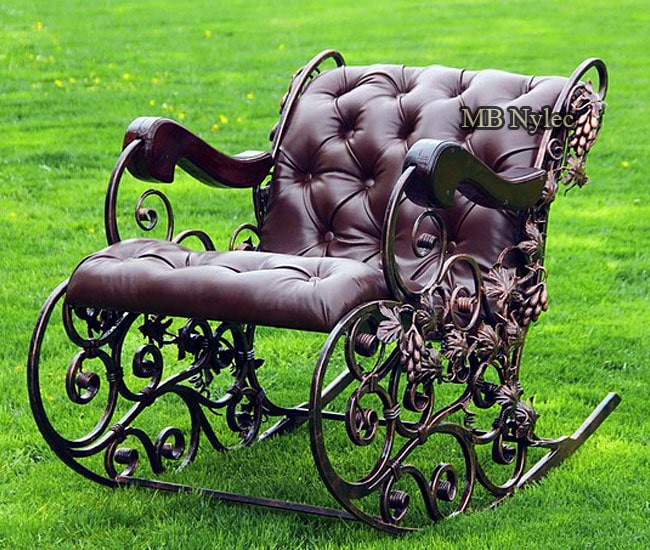 Forged rocking chair iron