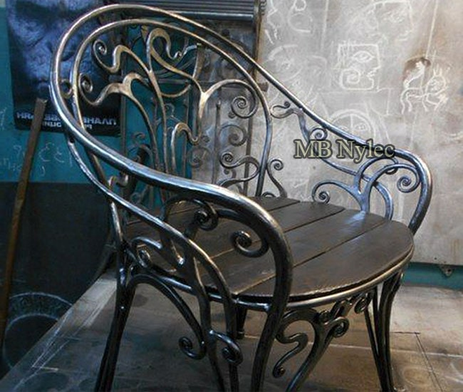 Forged steel armchair