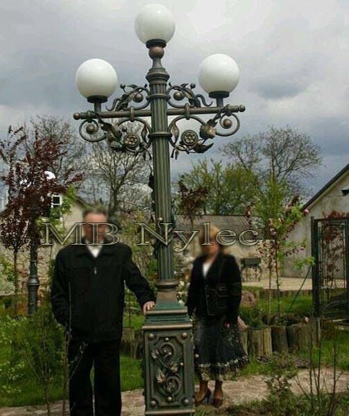 A massive garden lantern