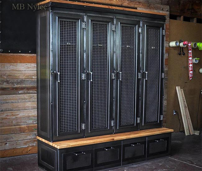 An exclusive wardrobe in an industrial style