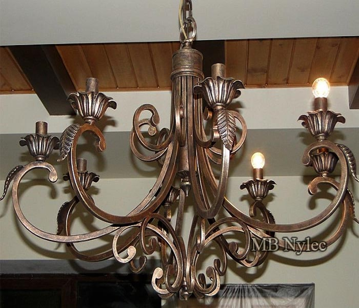 Ceiling forged pendant lamp
