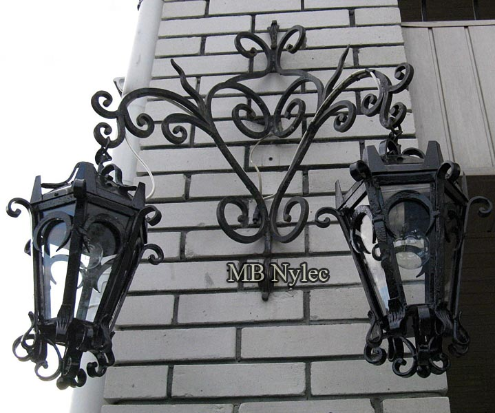 Classic forged 2-point wall lamp