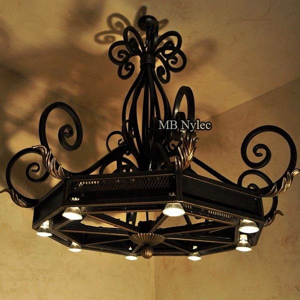 Classic forged chandelier