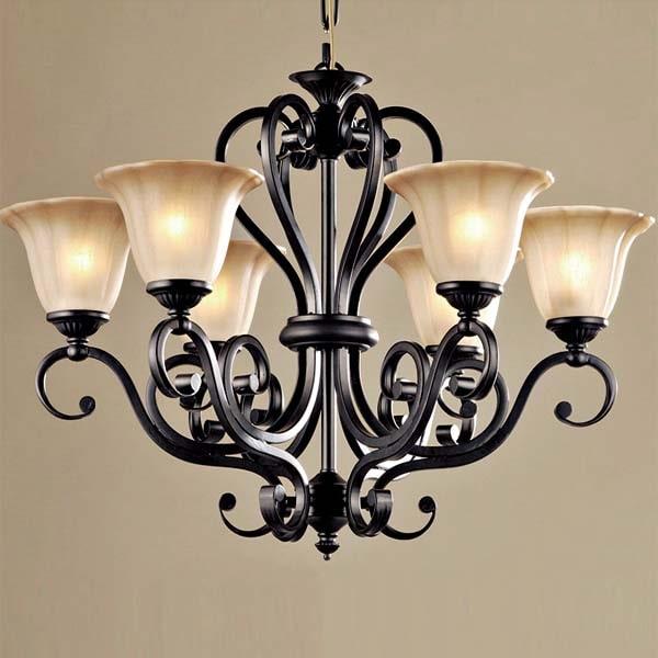Classic steel chandelier