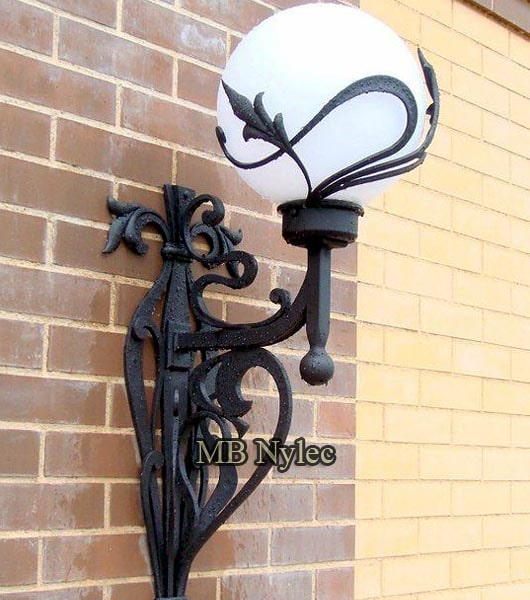 Classic wrought wall lamp