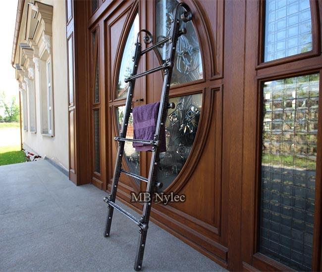 Clothes hanger - designer wrought iron loft ladder