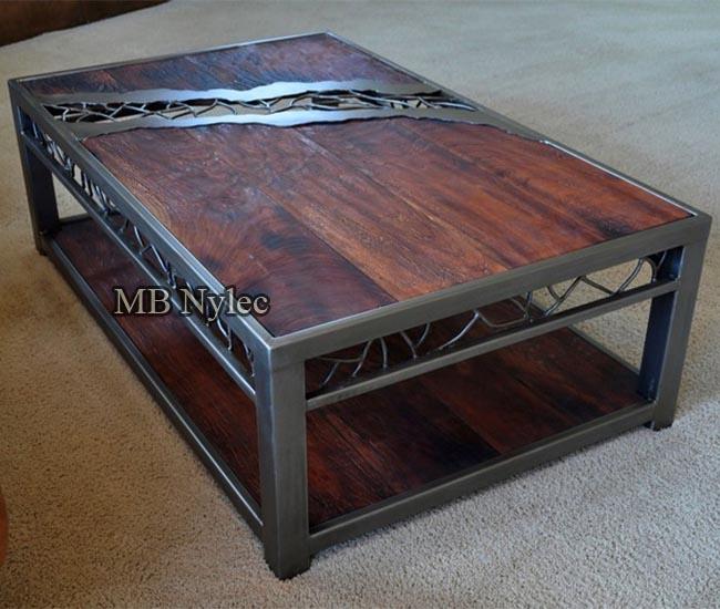Designer metal table
