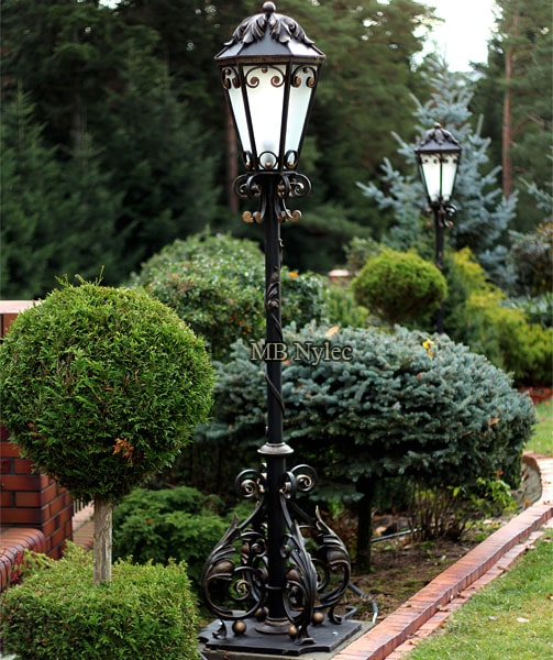 Elegant forged lantern