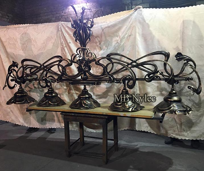 Exclusive forged chandelier