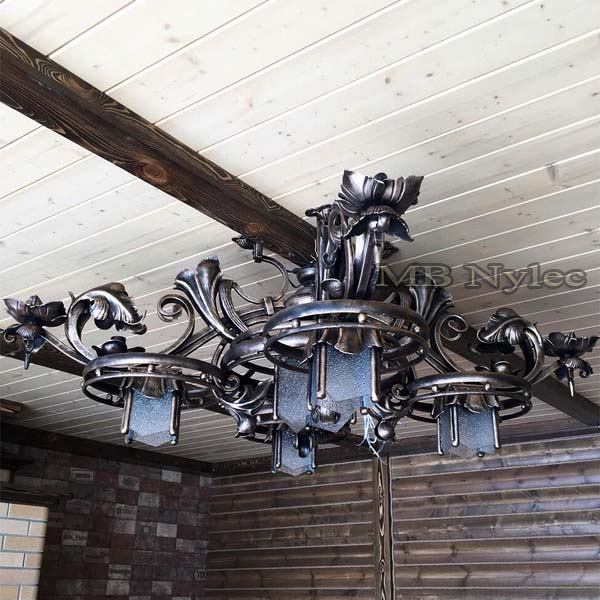 Forged chandelier wrought
