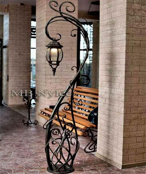 Forged garden lamp