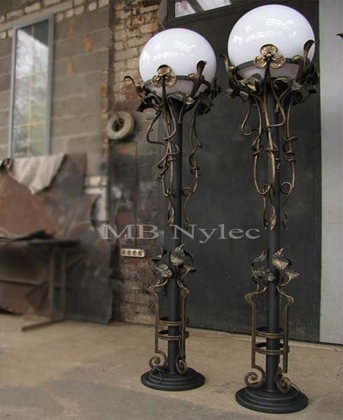Forged garden lamp wrought