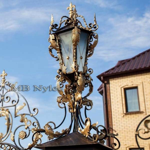 Forged lamp in the palace type
