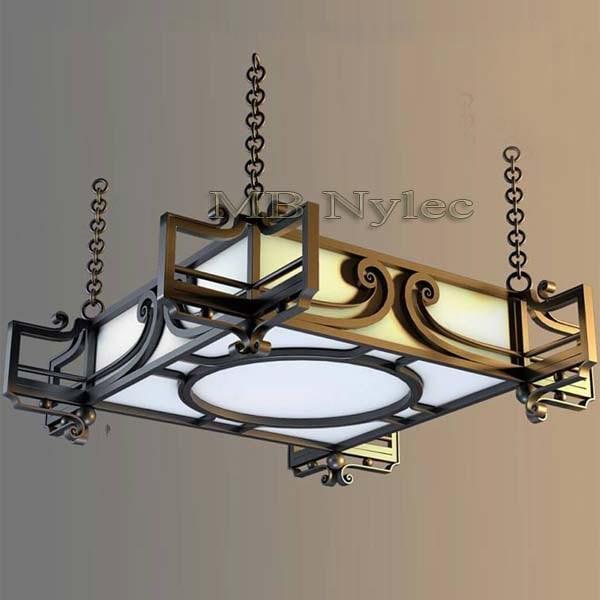 Forged modern chandelier