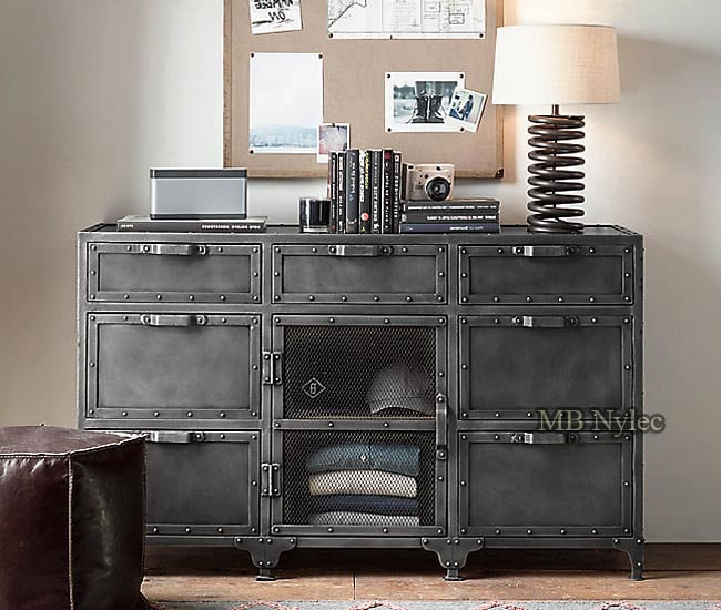 Forged modern industrial chest of drawers