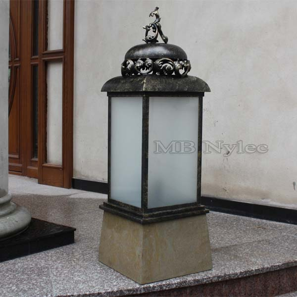 Forged small park lantern