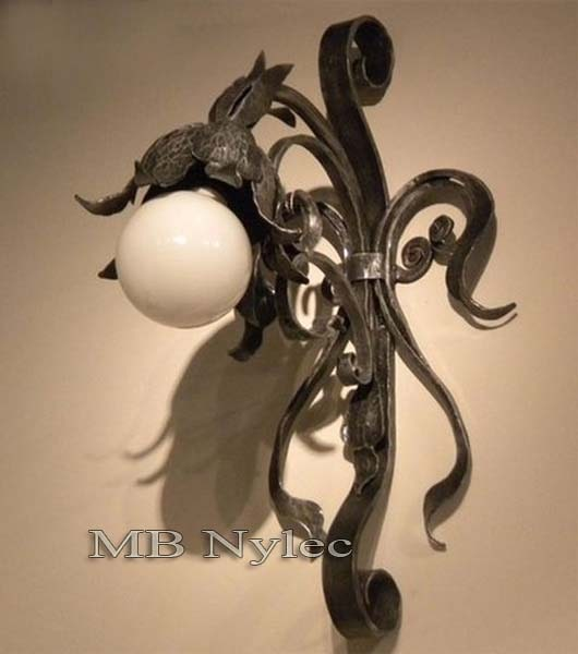 Forged wall lamp in the form of a flower