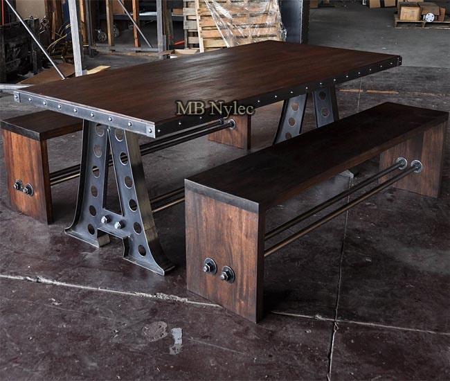 Industrial loft furniture set