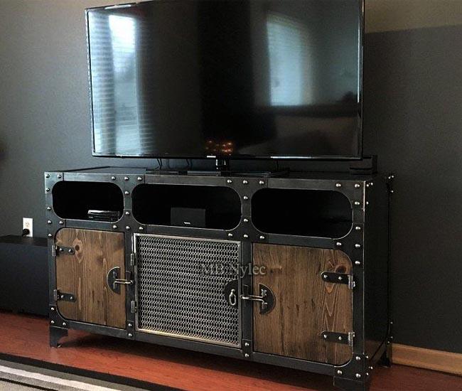 Industrial loft tv cabinet