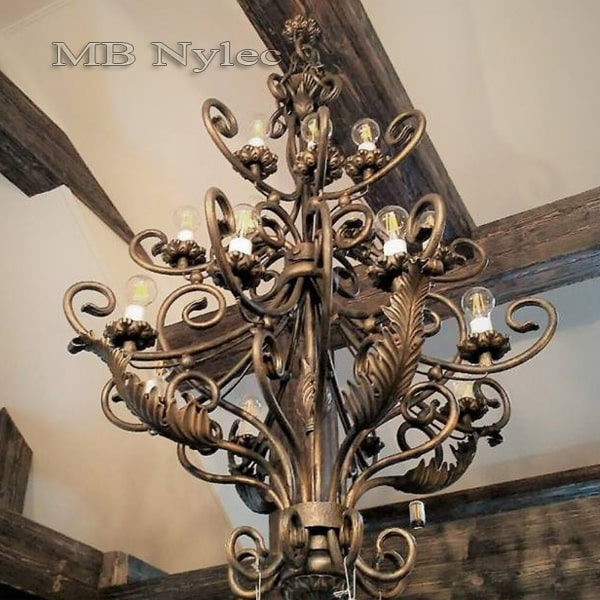 Large forged chandelier