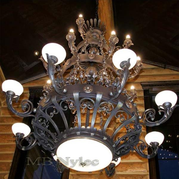 Massive blacksmith chandelier